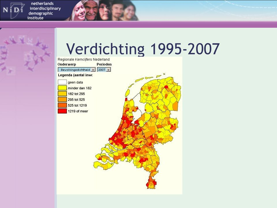 Verdichting 1995-2007