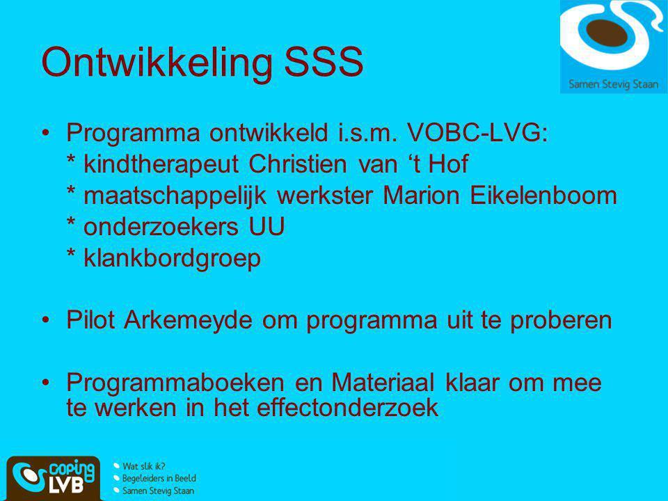 Ontwikkeling SSS Programma ontwikkeld i.s.m. VOBC-LVG: