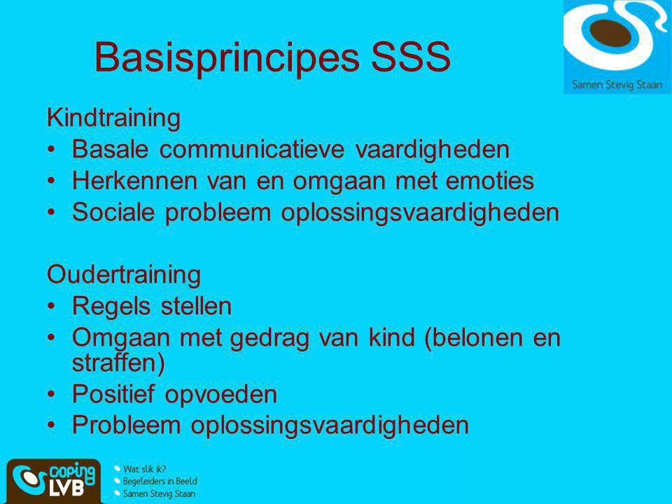 Basisprincipes SSS Kindtraining Basale communicatieve vaardigheden