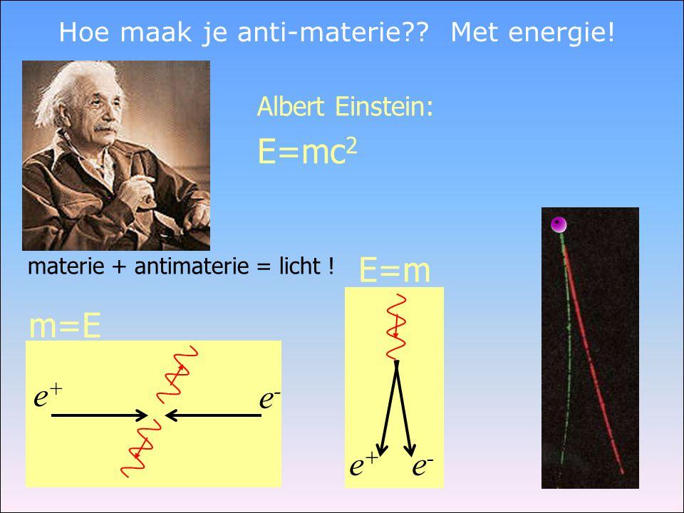 Hoe maak je anti-materie Met energie!