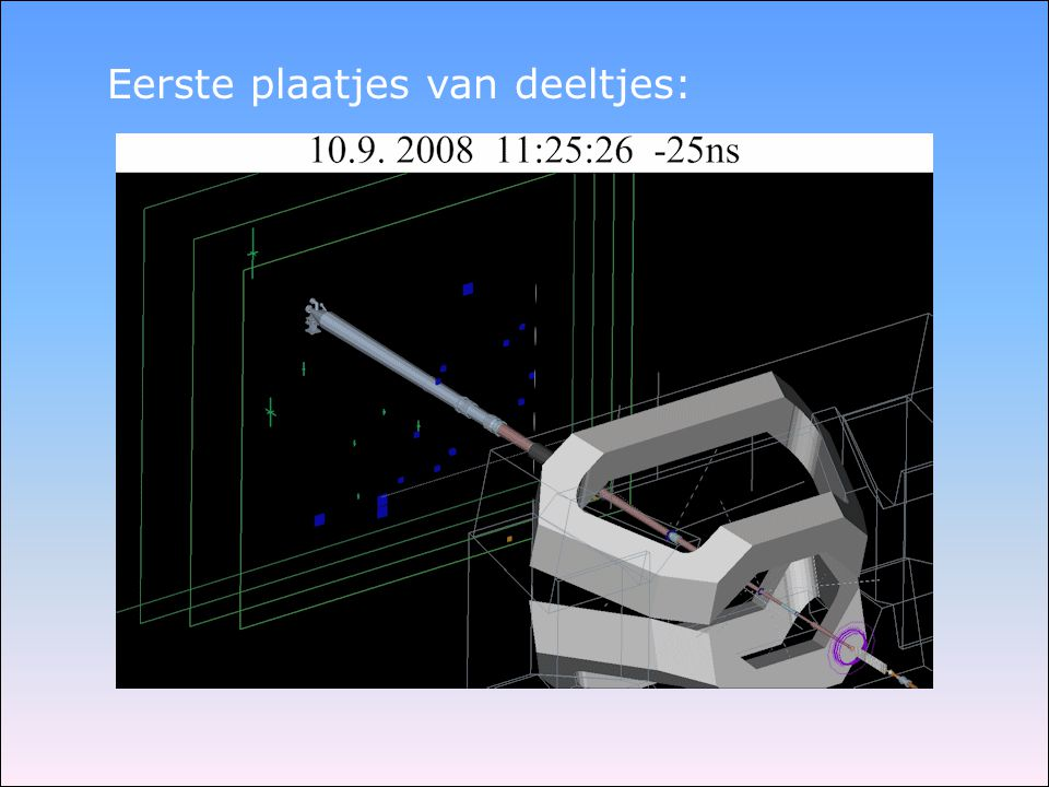 Eerste plaatjes van deeltjes: