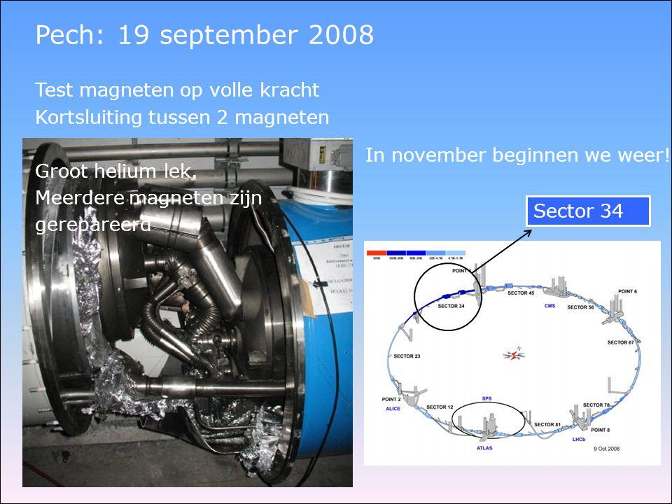 Pech: 19 september 2008 Test magneten op volle kracht