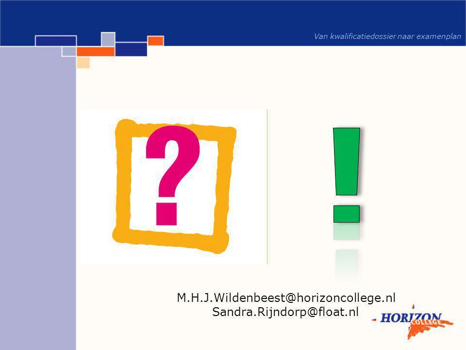 M.H.J.Wildenbeest@horizoncollege.nl Sandra.Rijndorp@float.nl