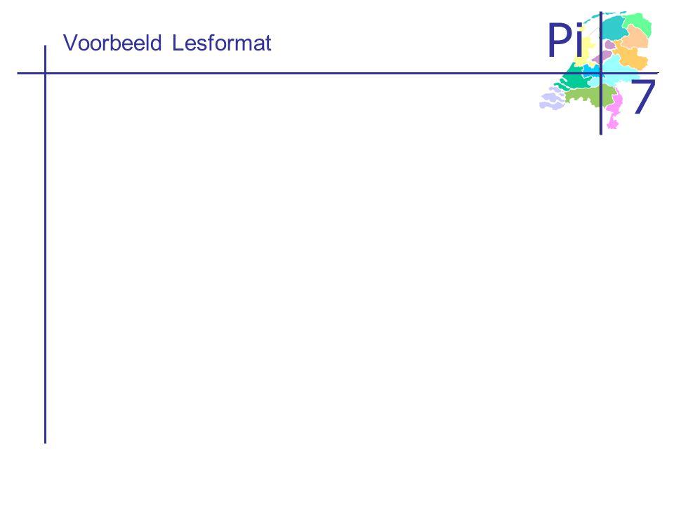 Voorbeeld Lesformat