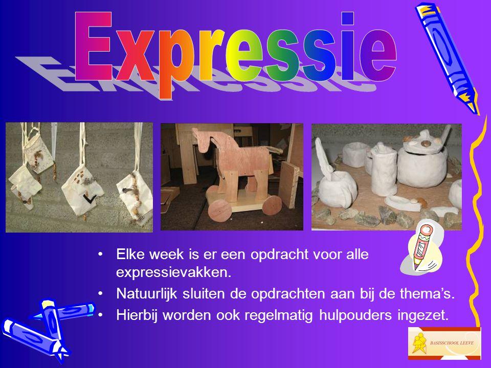 Expressie Elke week is er een opdracht voor alle expressievakken.