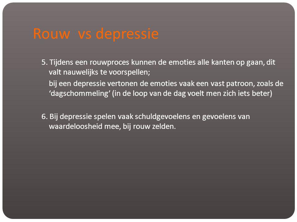 Rouw vs depressie