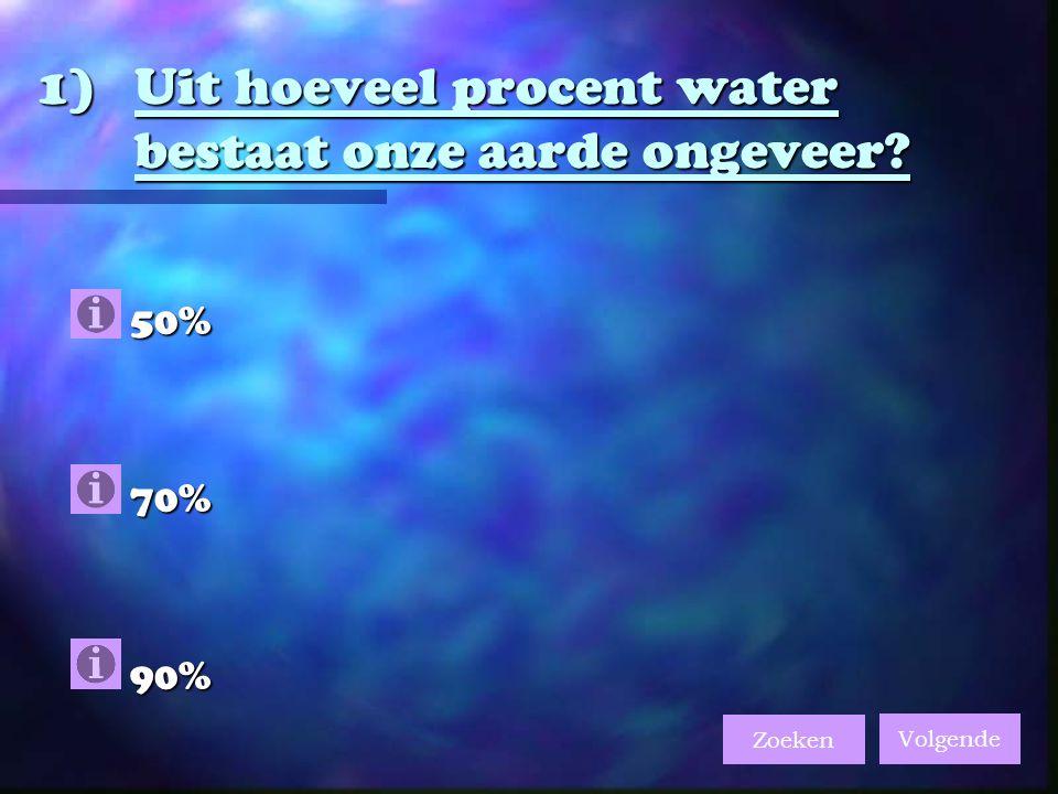 Uit hoeveel procent water bestaat onze aarde ongeveer