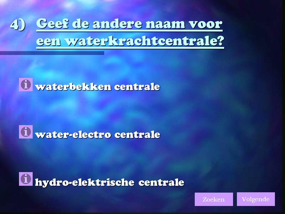 Geef de andere naam voor een waterkrachtcentrale