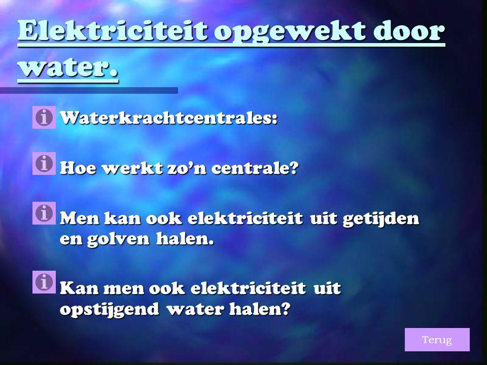 Elektriciteit opgewekt door water.