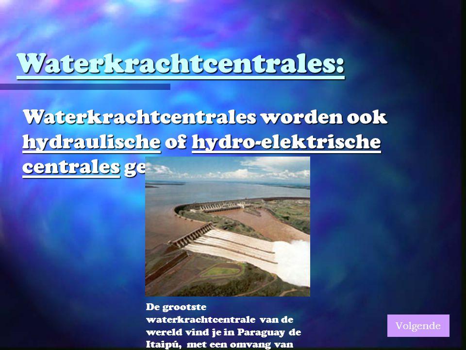 Waterkrachtcentrales: