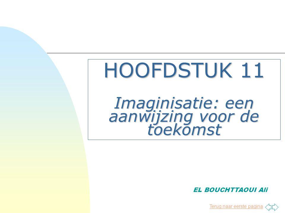 HOOFDSTUK 11 Imaginisatie: een aanwijzing voor de toekomst