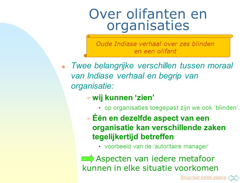 Over olifanten en organisaties