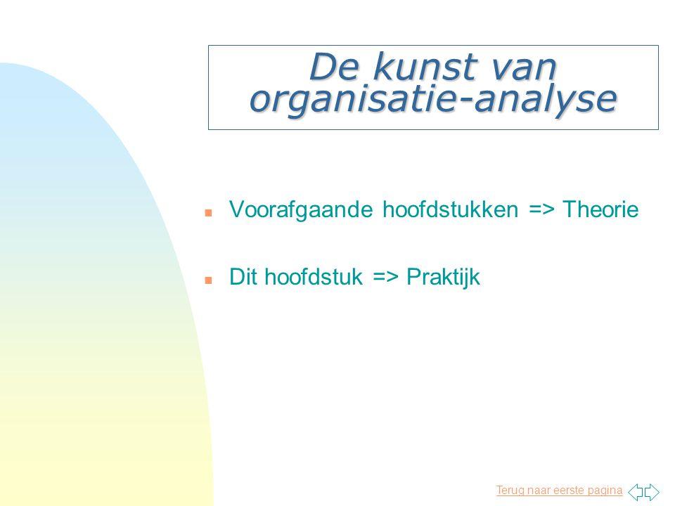 De kunst van organisatie-analyse