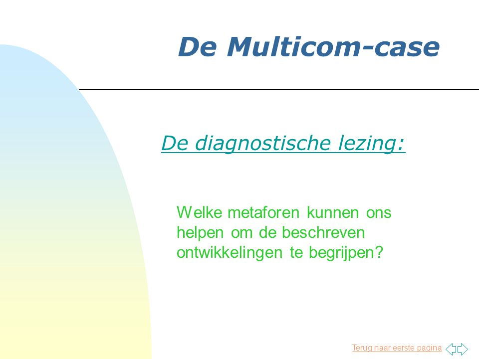 De diagnostische lezing: