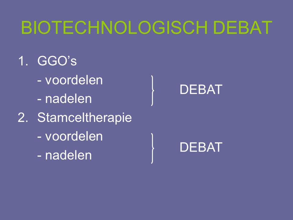 BIOTECHNOLOGISCH DEBAT