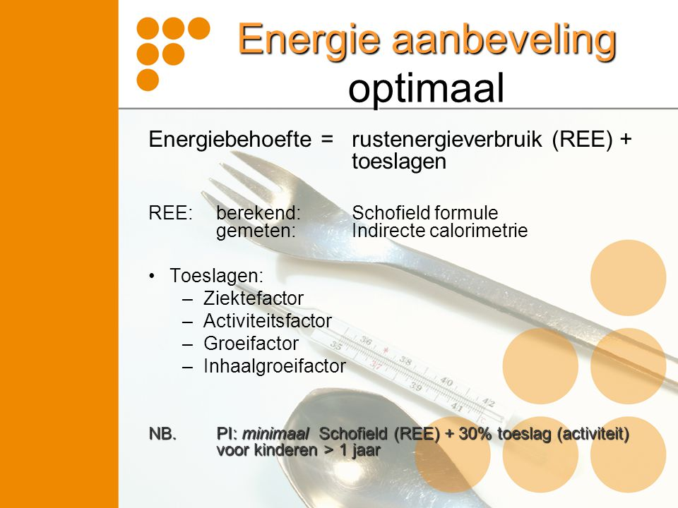 Energie aanbeveling optimaal