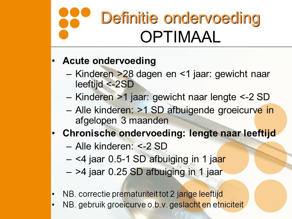 Definitie ondervoeding OPTIMAAL