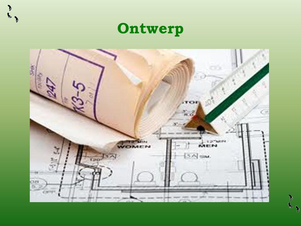 Ontwerp De woningstichting heeft een architect in de arm genomen om tot een ontwerp te komen voor de woningen.