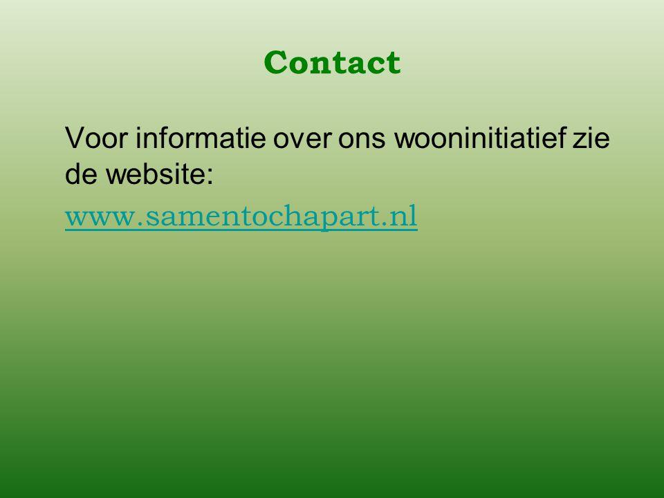 Contact Voor informatie over ons wooninitiatief zie de website: