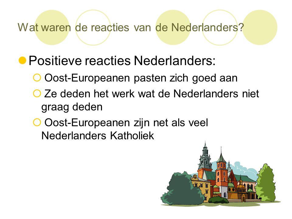 Wat waren de reacties van de Nederlanders