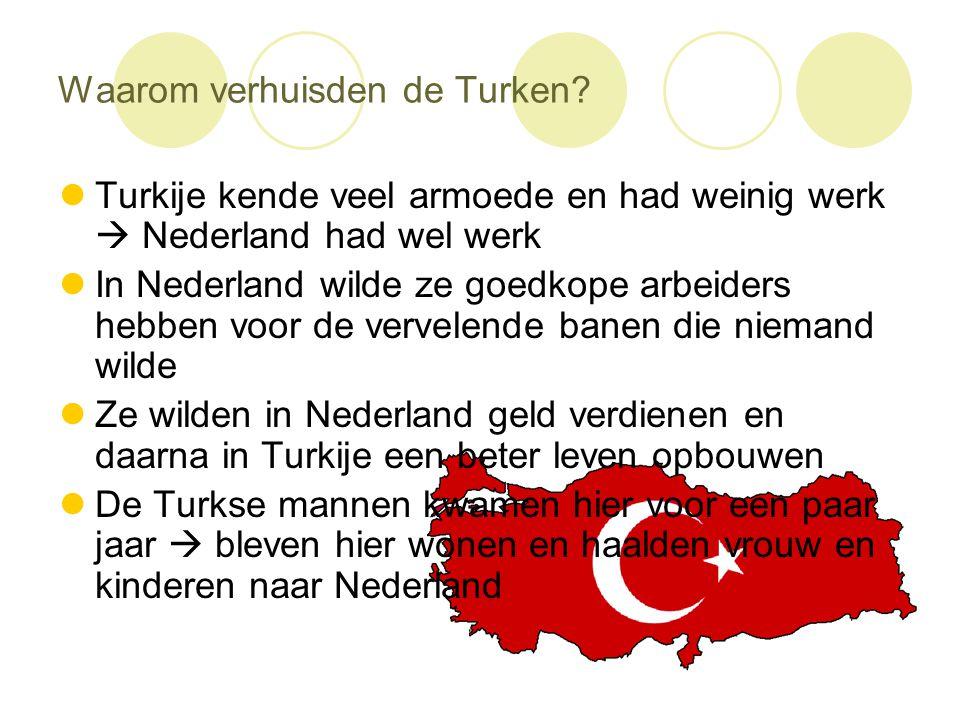 Waarom verhuisden de Turken