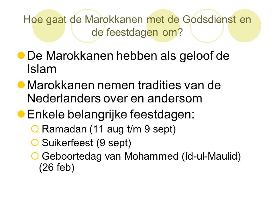 Hoe gaat de Marokkanen met de Godsdienst en de feestdagen om