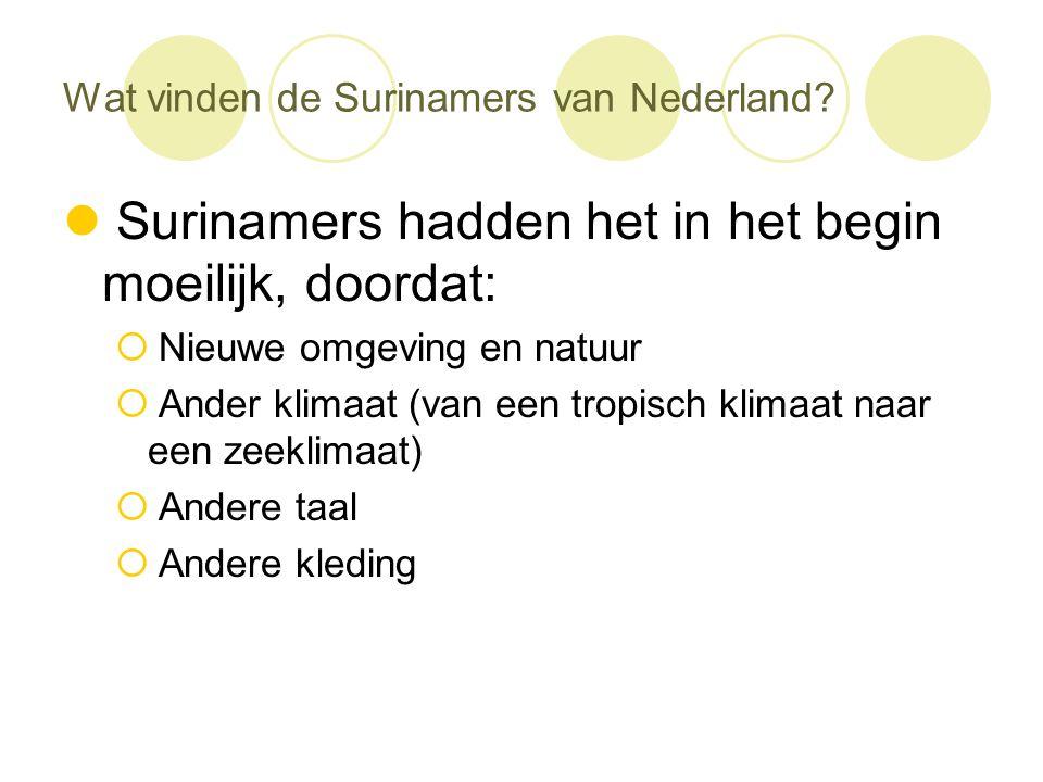Wat vinden de Surinamers van Nederland