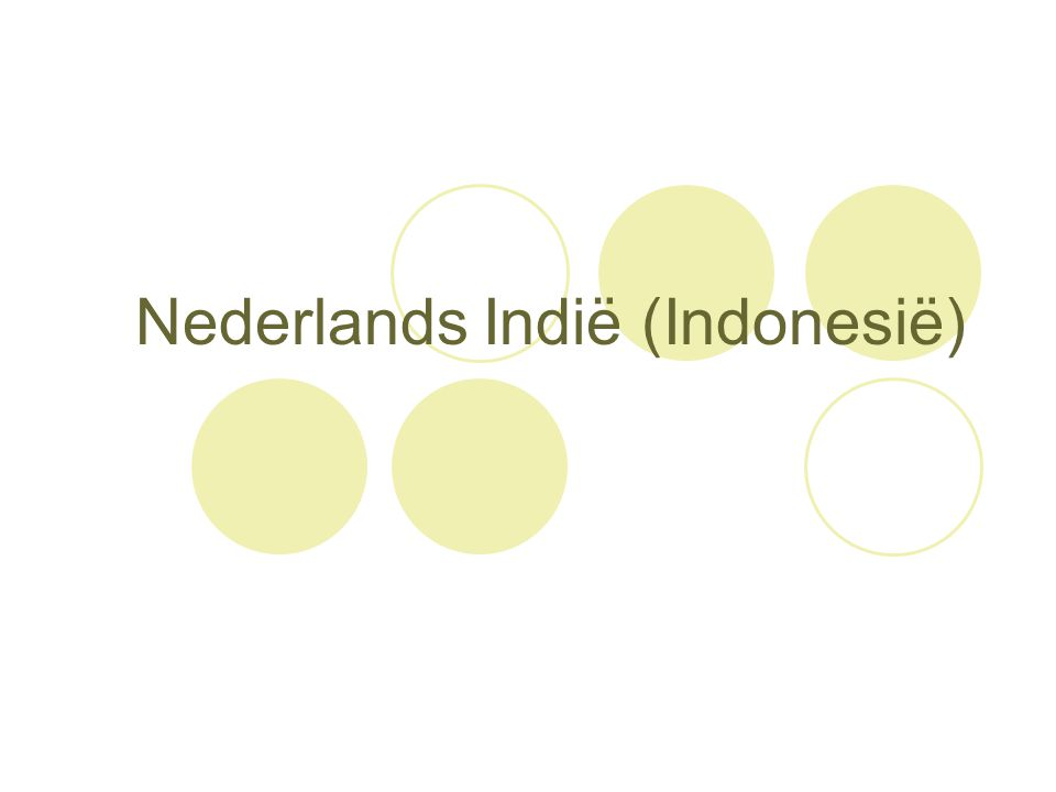 Nederlands Indië (Indonesië)
