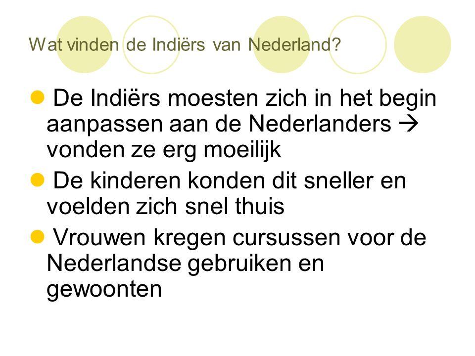 Wat vinden de Indiërs van Nederland