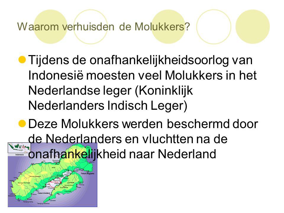 Waarom verhuisden de Molukkers