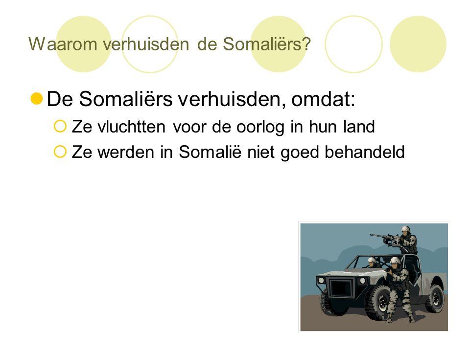 Waarom verhuisden de Somaliërs