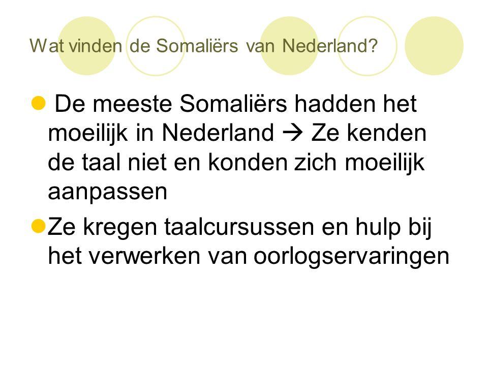Wat vinden de Somaliërs van Nederland