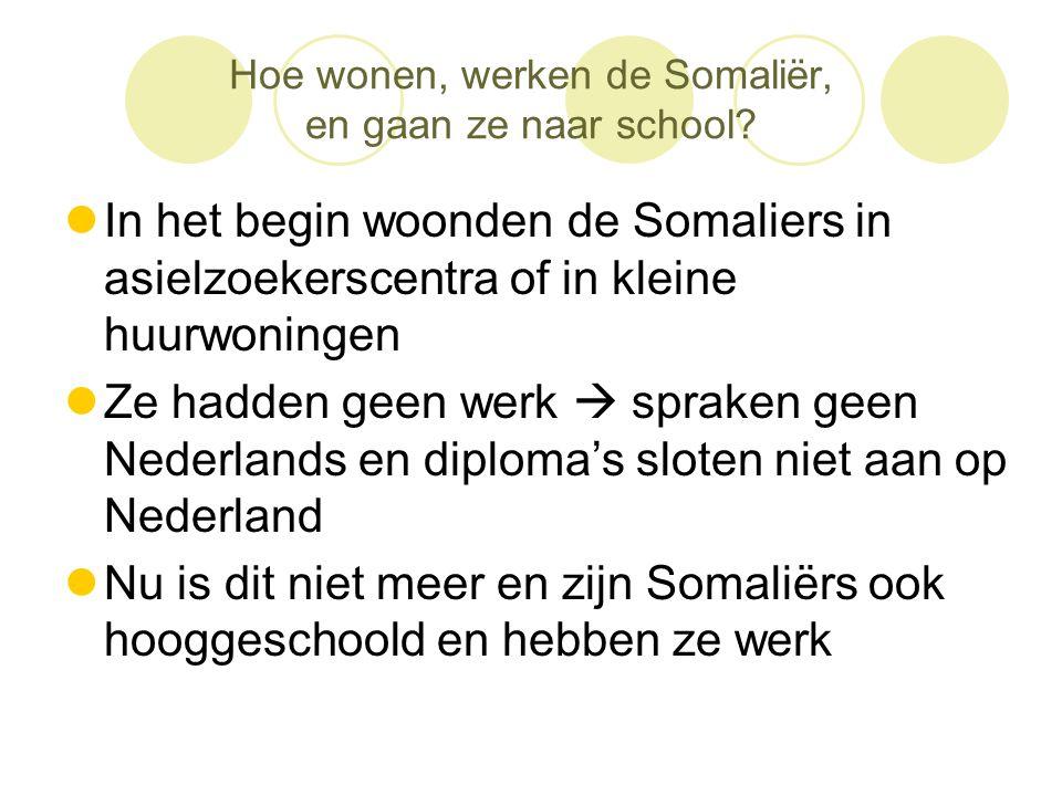 Hoe wonen, werken de Somaliër, en gaan ze naar school