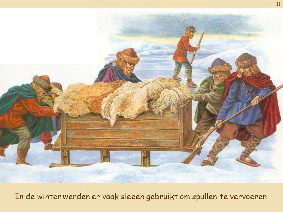 In de winter werden er vaak sleeën gebruikt om spullen te vervoeren