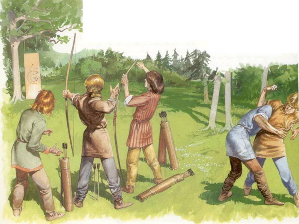 Jongens deden spelleijes die ervoor moesten zorgen I goede krijgers werden, Volgens een VIkingdichter tel van vrijen en edelen boogschieten, paardrijden,jag honden, zwaaien met een zwaard en staalijes ZWel.