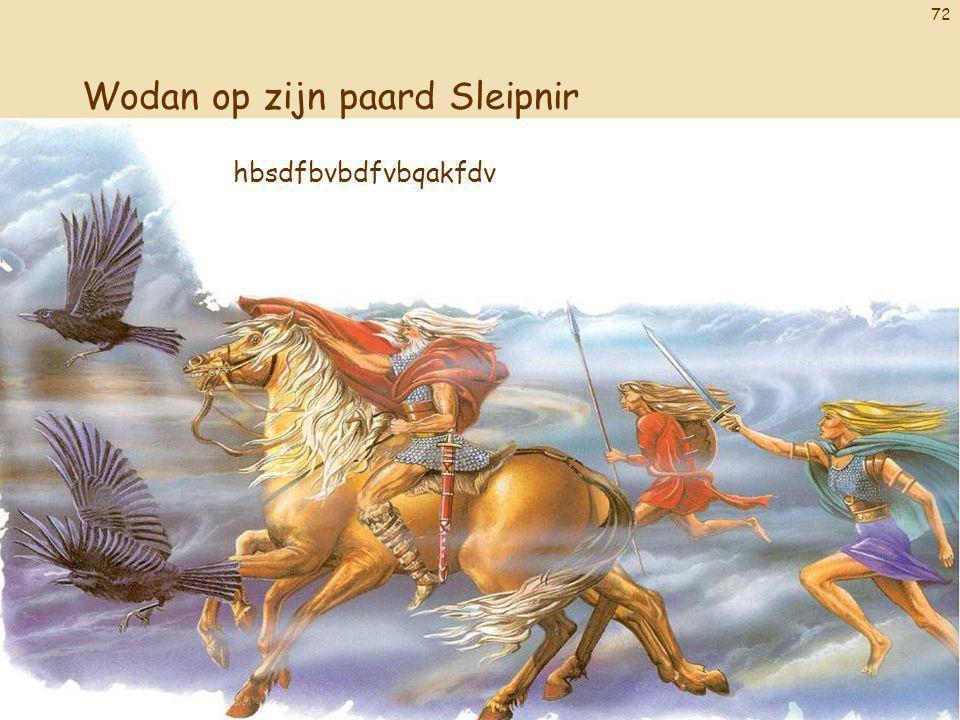 Wodan op zijn paard Sleipnir