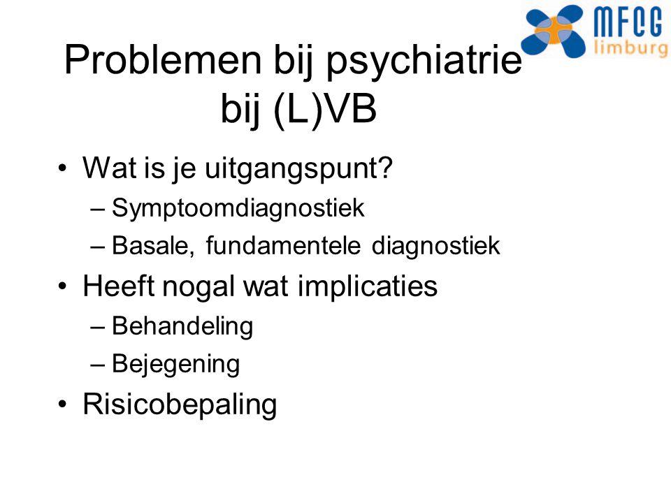 Problemen bij psychiatrie bij (L)VB