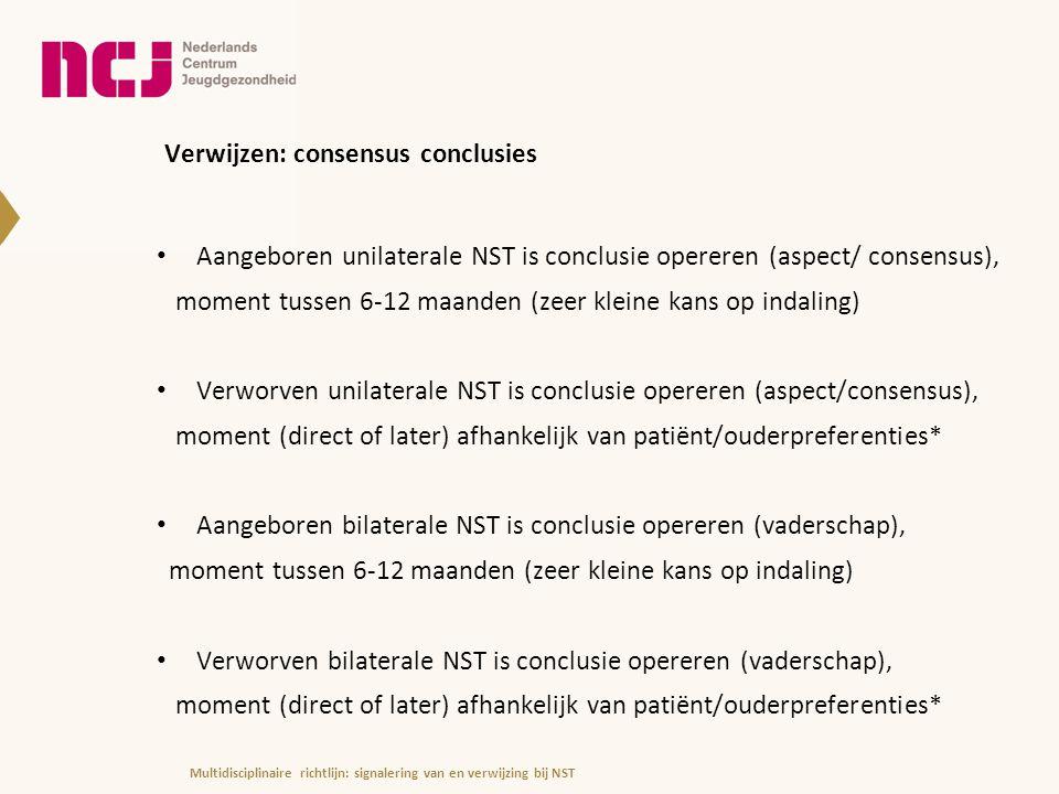 Verwijzen: consensus conclusies
