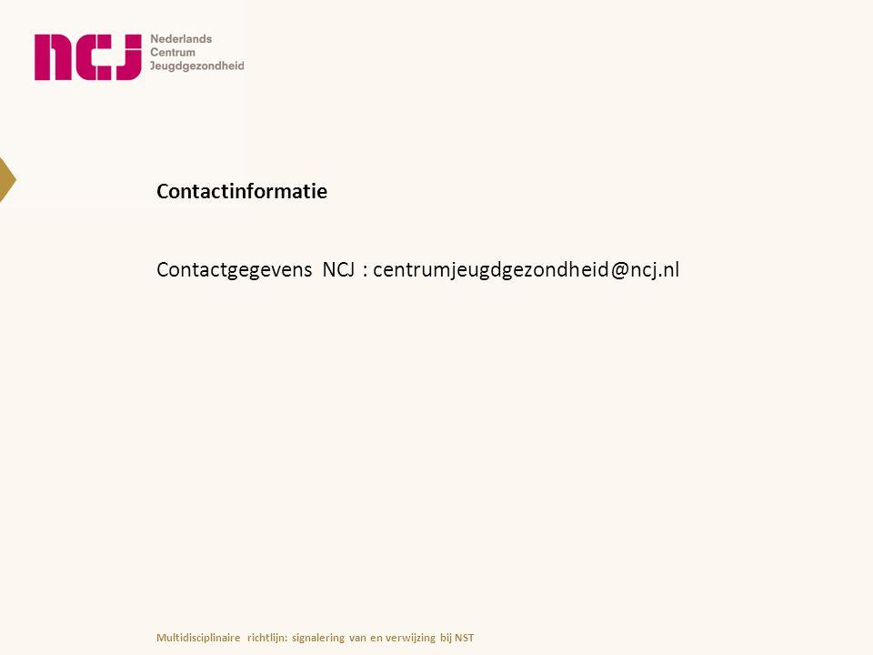 Contactgegevens NCJ : centrumjeugdgezondheid@ncj.nl