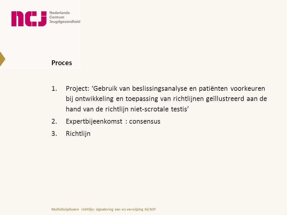 Expertbijeenkomst : consensus Richtlijn