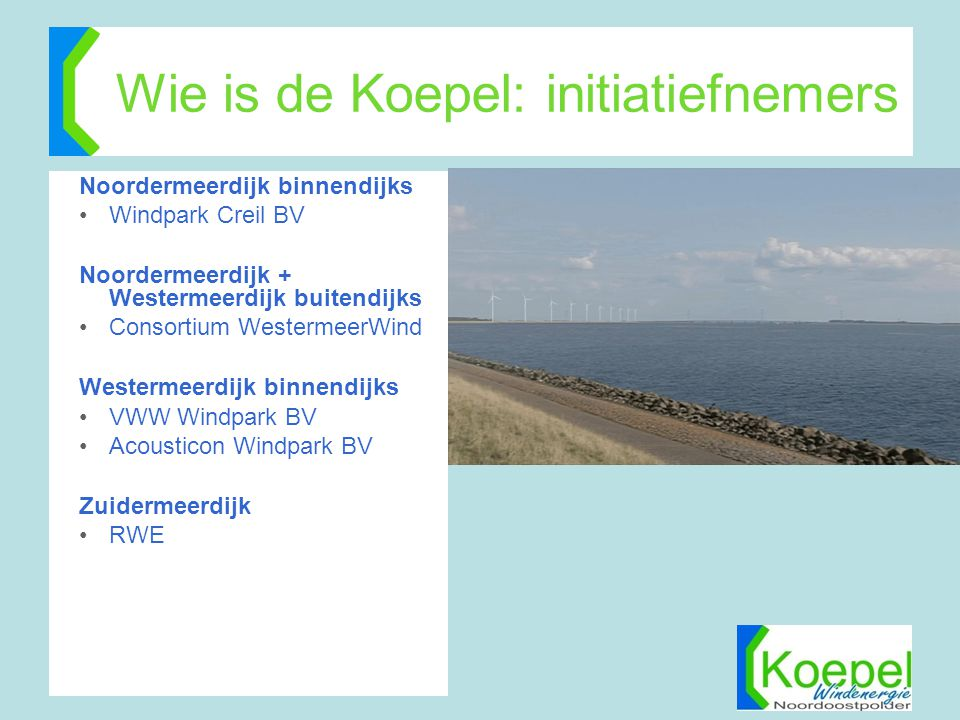 Wie is de Koepel: initiatiefnemers