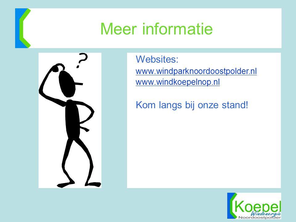 Meer informatie Websites: Kom langs bij onze stand!