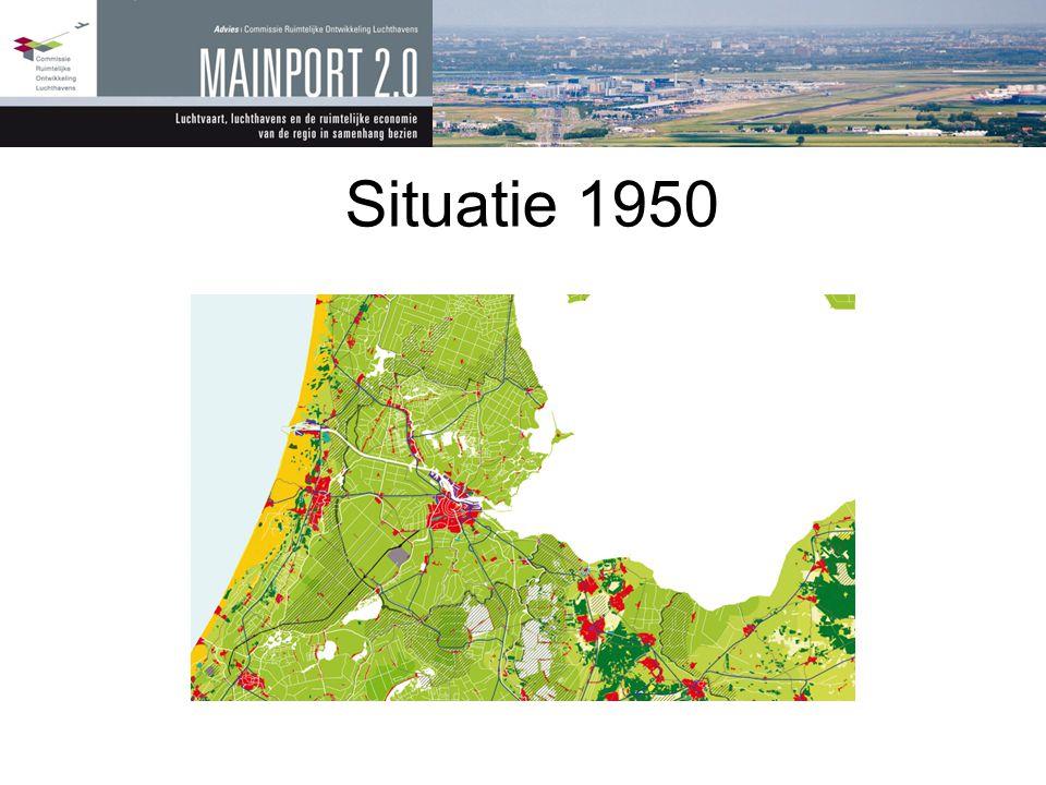 Situatie 1950 Een klein Schiphol Een klein Amsterdam