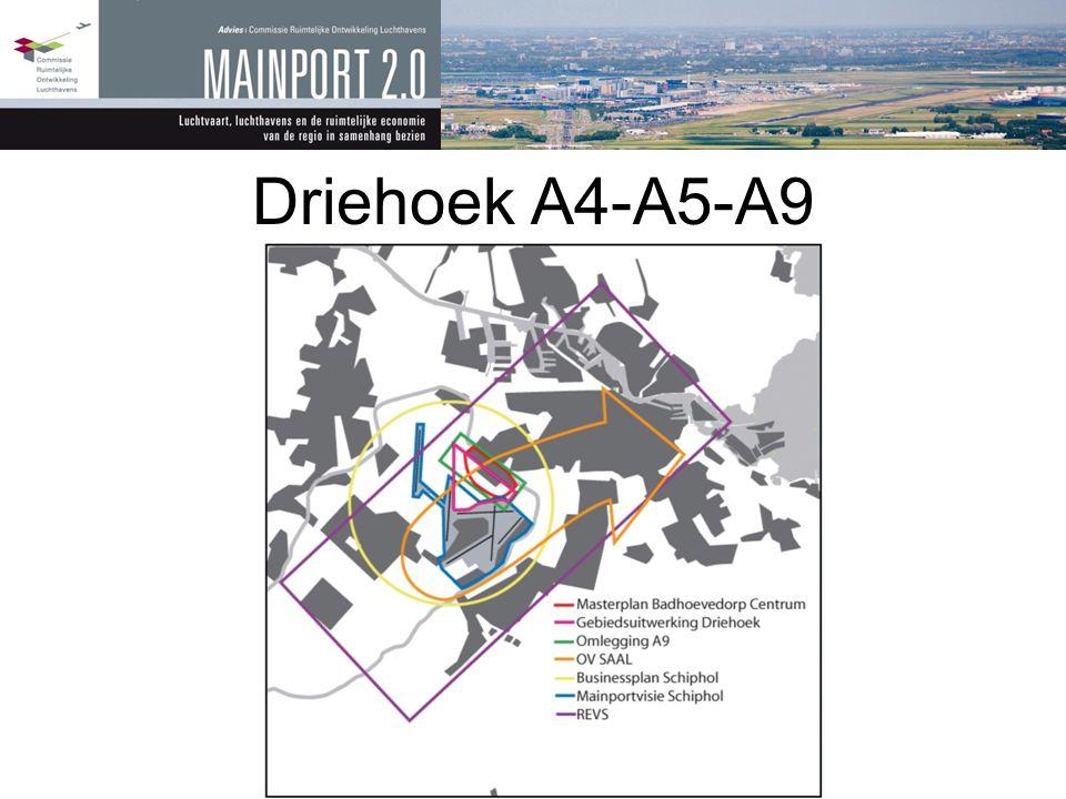 Driehoek A4-A5-A9 Illustratie van belangrijk thema van advies: gebrek aan samenwerking.