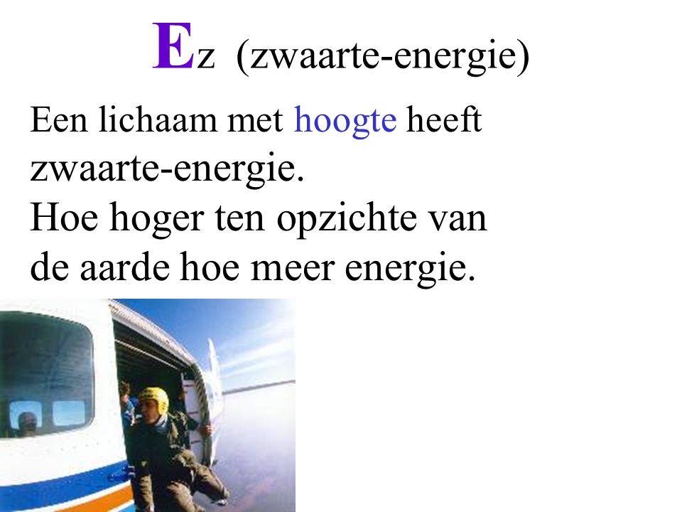 Ez (zwaarte-energie) zwaarte-energie. Hoe hoger ten opzichte van