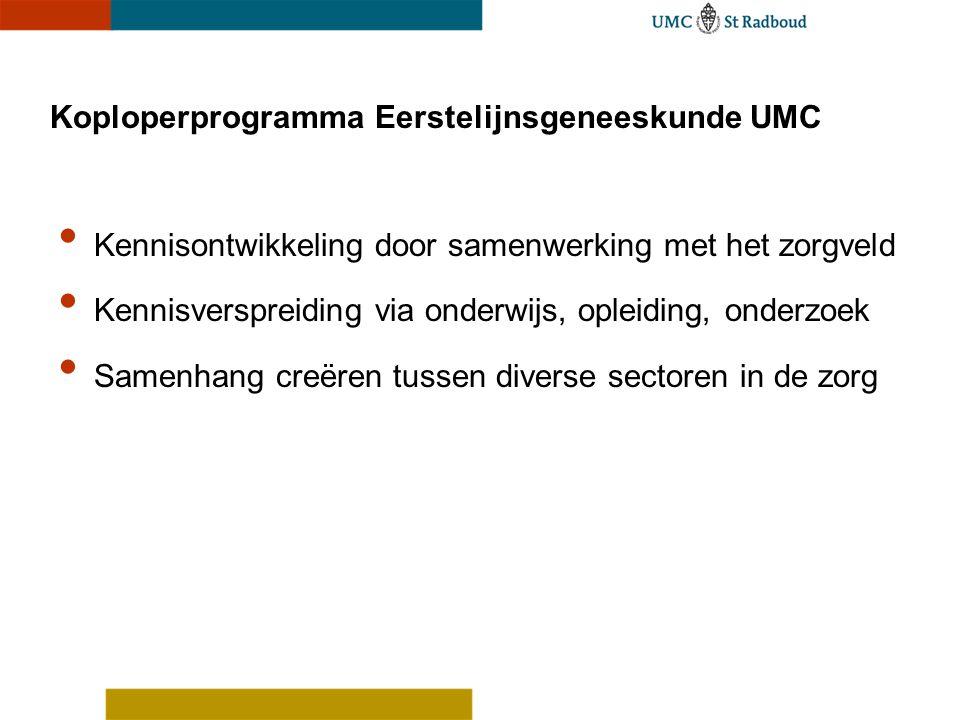 Koploperprogramma Eerstelijnsgeneeskunde UMC