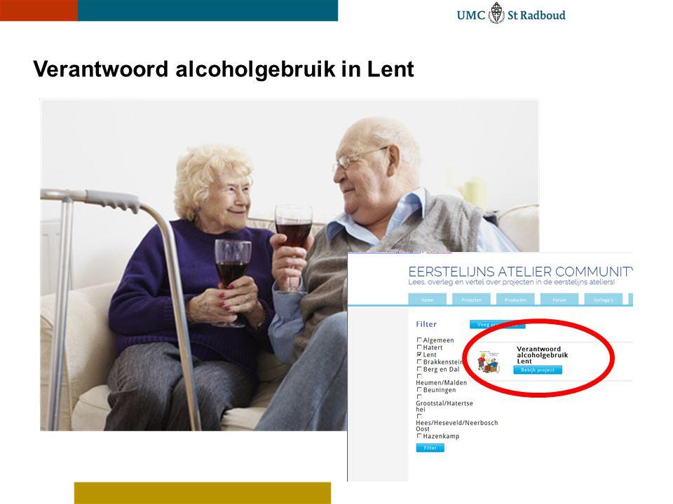 Verantwoord alcoholgebruik in Lent