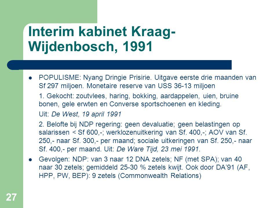 Interim kabinet Kraag-Wijdenbosch, 1991