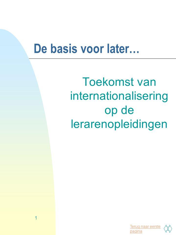 Toekomst van internationalisering op de lerarenopleidingen