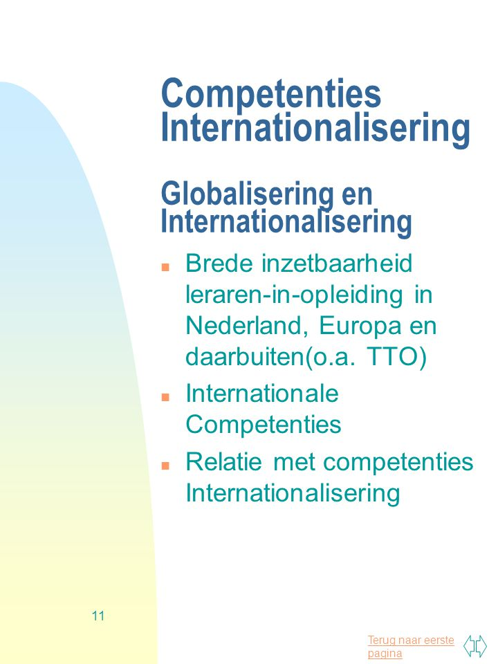 Competenties Internationalisering Globalisering en Internationalisering